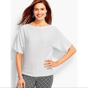 NWT Talbots Petite Silver Shimmer Dolman Sweater